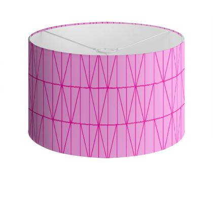 On the Fence Drum Lamp Shade in Pink
