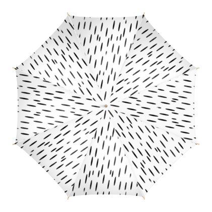 Raining Opportunities Umbrella in Black and White