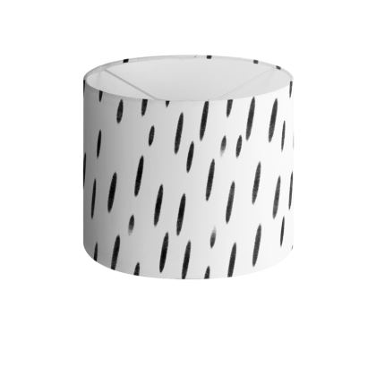 Raining Opportunities Drum Lamp Shade in Black and White