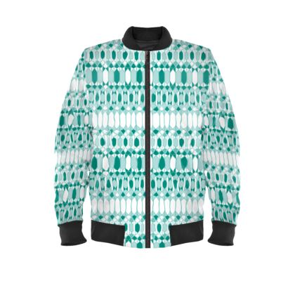 Folklore Mens Bomber Jacket in Green