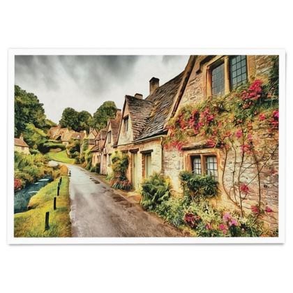 Countryside after the Rain - Paper Poster