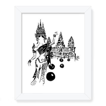Apsara dancer in Angkor Wat