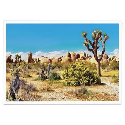 Desert Landscape - Paper Poster