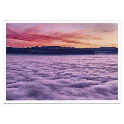 Ocean horizon sunset - Paper Poster