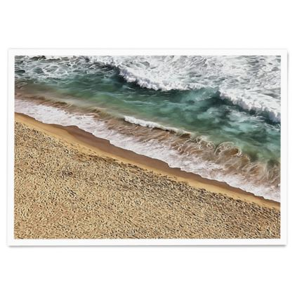 Tropical ocean beach and waves - Paper Poster