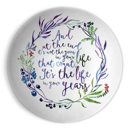 Birthday illustrated Quote - Ornamental Bowl