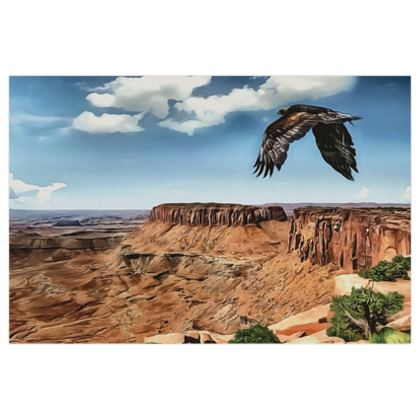 Flying Eagle in Grand Canyon - 16x24in Poster
