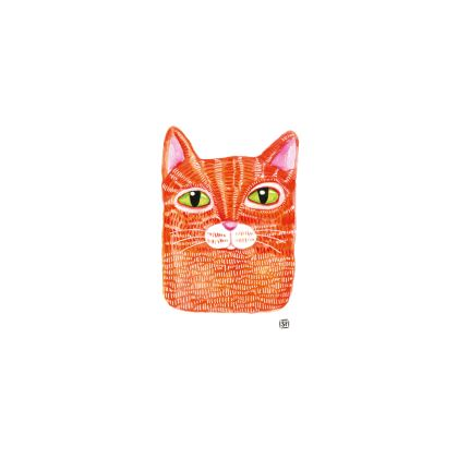 Red Cat - Bone China Mug