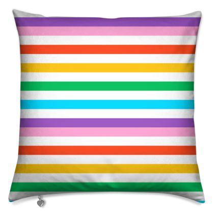 Cushions- Emmeline Anne Rainbow Stripes