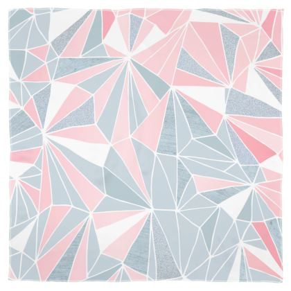 Scarf Wrap or Shawl in the 'PRETTY PINK & GREY GEOMETRY' design