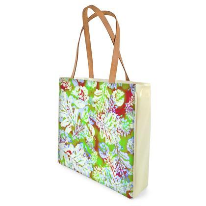 Shopper Bags Green, white, Floral  Oaks  Nutcracker