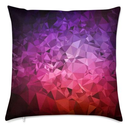 ULTRA VIOLET GEOMETRIC RAINBOW Luxury Cushions