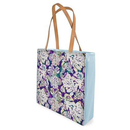 Shopper Bags Purple, White, Botanical  Oaks  Theatrical