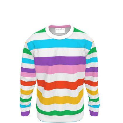 Sweatshirt- Emmeline Anne Rainbow Stripes