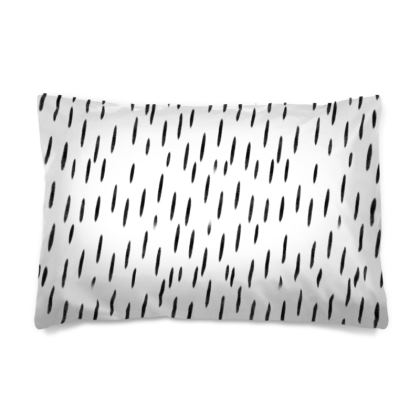 Raining Opportunities Pillow Case in Black and White