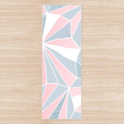 PINK & GREY GEOMETRY Yoga Mat