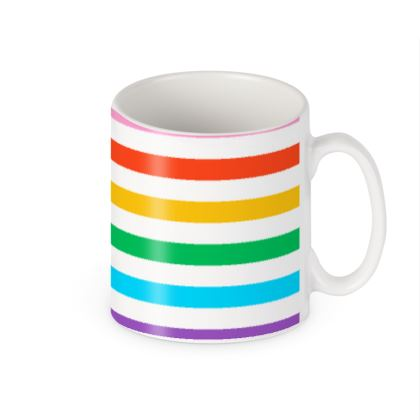 Builders Mugs- Emmeline Anne Rainbow Stripes