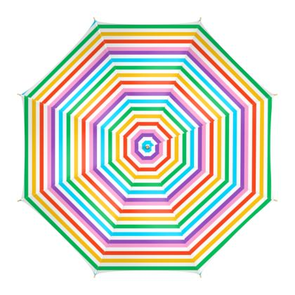 Umbrella- Emmeline Anne Rainbow Stripes