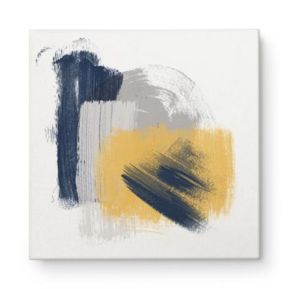 Nirvana Blue Yellow abstract - Canvas