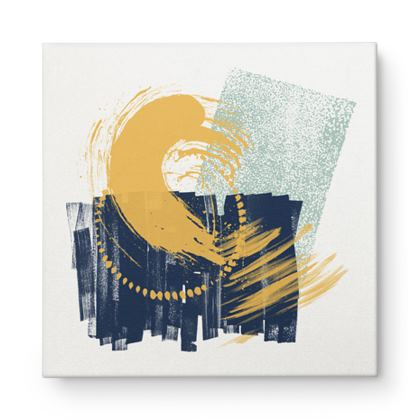Nirvana Blue Mint abstract - Canvas