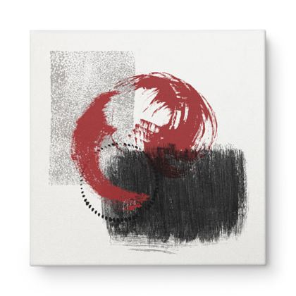 Nirvana Red Black Grey Abstract - Canvas