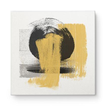 Nirvana Yellow Grey Black Abstract - Canvas