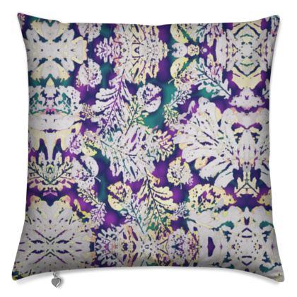 Cushions Purple, Grey Botanical  Oaks  Theatrical