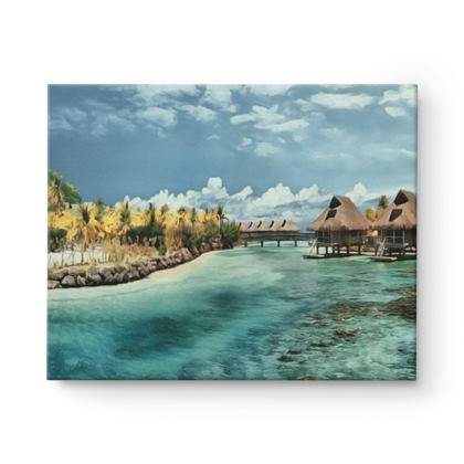 Bora Bora Blue Lagoon - Canvas