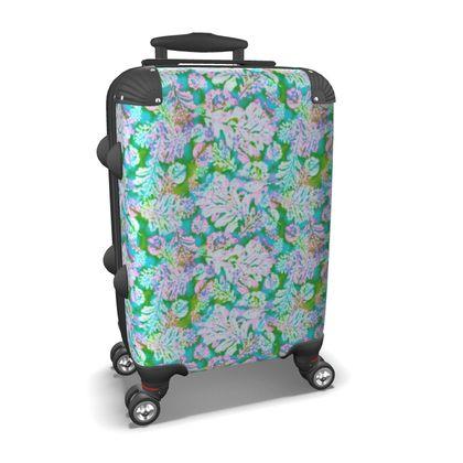Suitcase Green, Lilac, Botanical  Oaks  Marble
