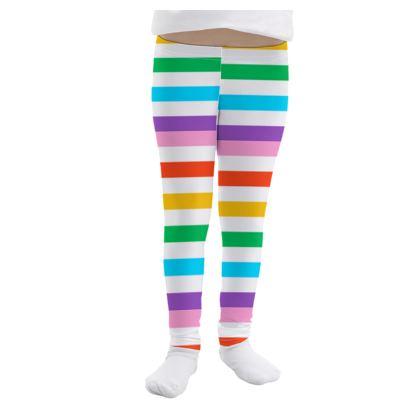Girls Leggings- Emmeline Anne Rainbow Stripes