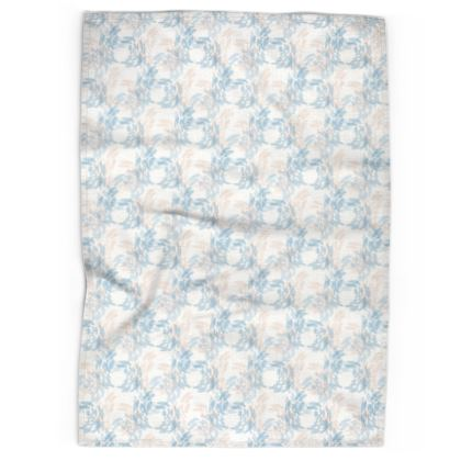 Abstract Tranquil Calm Butterflies Pattern Tea Towel