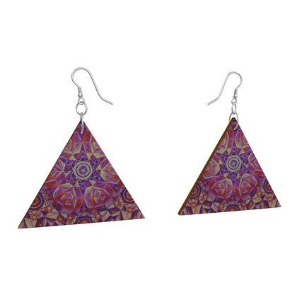 Wooden Earrings Geometric Shapes 1