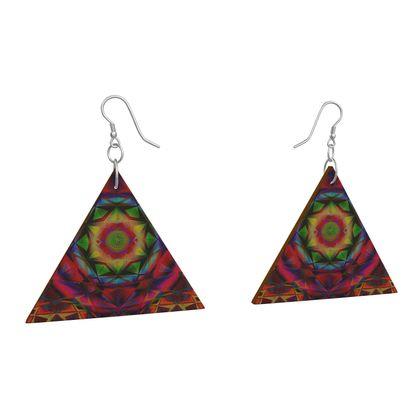 Wooden Earrings Geometric Shapes 2