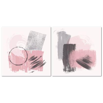 Nirvana Pink Grey Set - Canvas 2