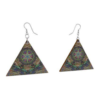 Wooden Earrings Geometric Shapes 4