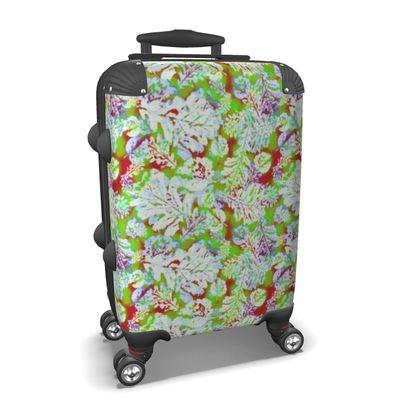 Suitcase Green, Cinnamon Botanical  Oaks  Nutcracker