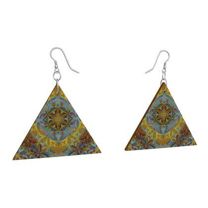 Wooden Earrings Geometric Shapes 6