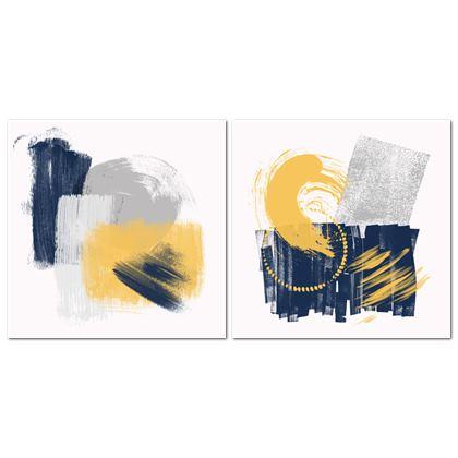 Nirvana Blue Yellow Set - Canvas 2