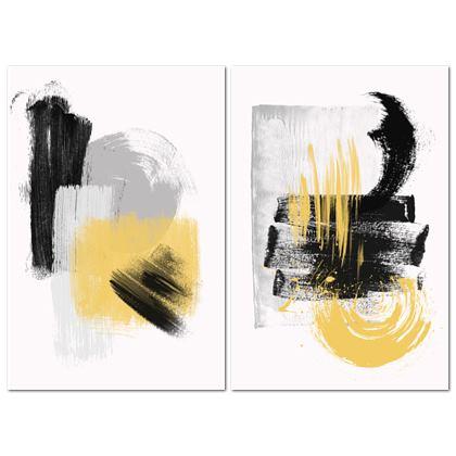 Nirvana Yellow Black Set - Canvas 2