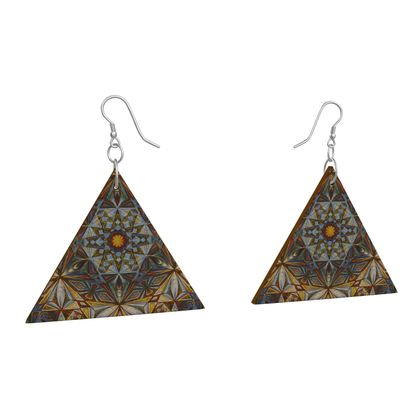 Wooden Earrings Geometric Shapes 8