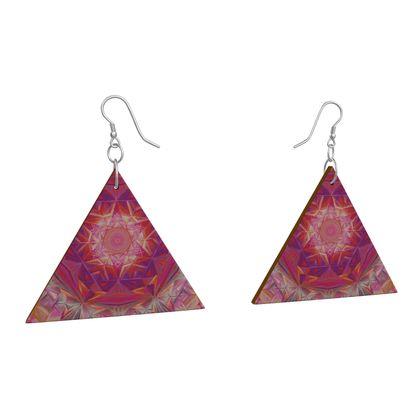 Wooden Earrings Geometric Shapes 9