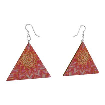 Wooden Earrings Geometric Shapes 10