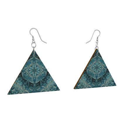 Wooden Earrings Geometric Shapes 11