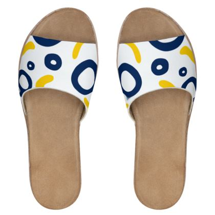 Womens Leather Sliders Nautical Finds