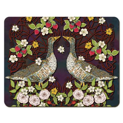 Geese with Summer Strawberries Placemats