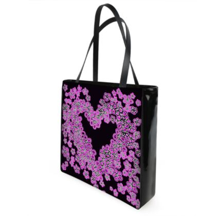 Pink and Lacy Heart of Flowers bag