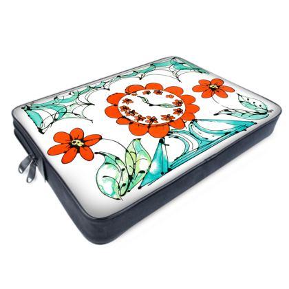 Une Garniture Fleurie (White) Laptop Bag