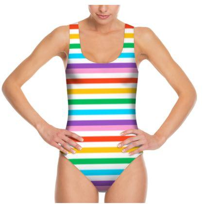 Swimsuit- Emmeline Anne Rainbow Stripes