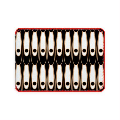 Black and white Art Nouveau - Card Holder - Bohemian art deco, geometric shapes, elegant, abstract, graphic, clean, fine, statement gift - design by Tiana Lofd