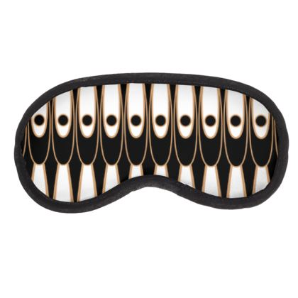 Black and white Art Nouveau - Eye Mask - Bohemian art deco, geometric shapes, elegant, abstract, graphic, clean, fine, statement gift - design by Tiana Lofd